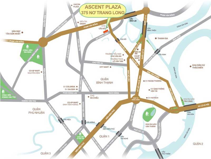 Vị trí Ascent Plaza