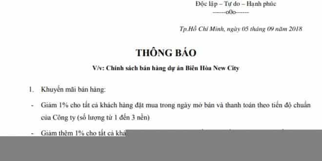 chinh sach ban hang bien hoa new city