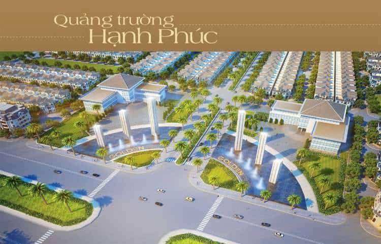 """Quảng trường lớn mang tên """"Hạnh Phúc"""" tại cửa chính khu đô thị Golden Bay"""