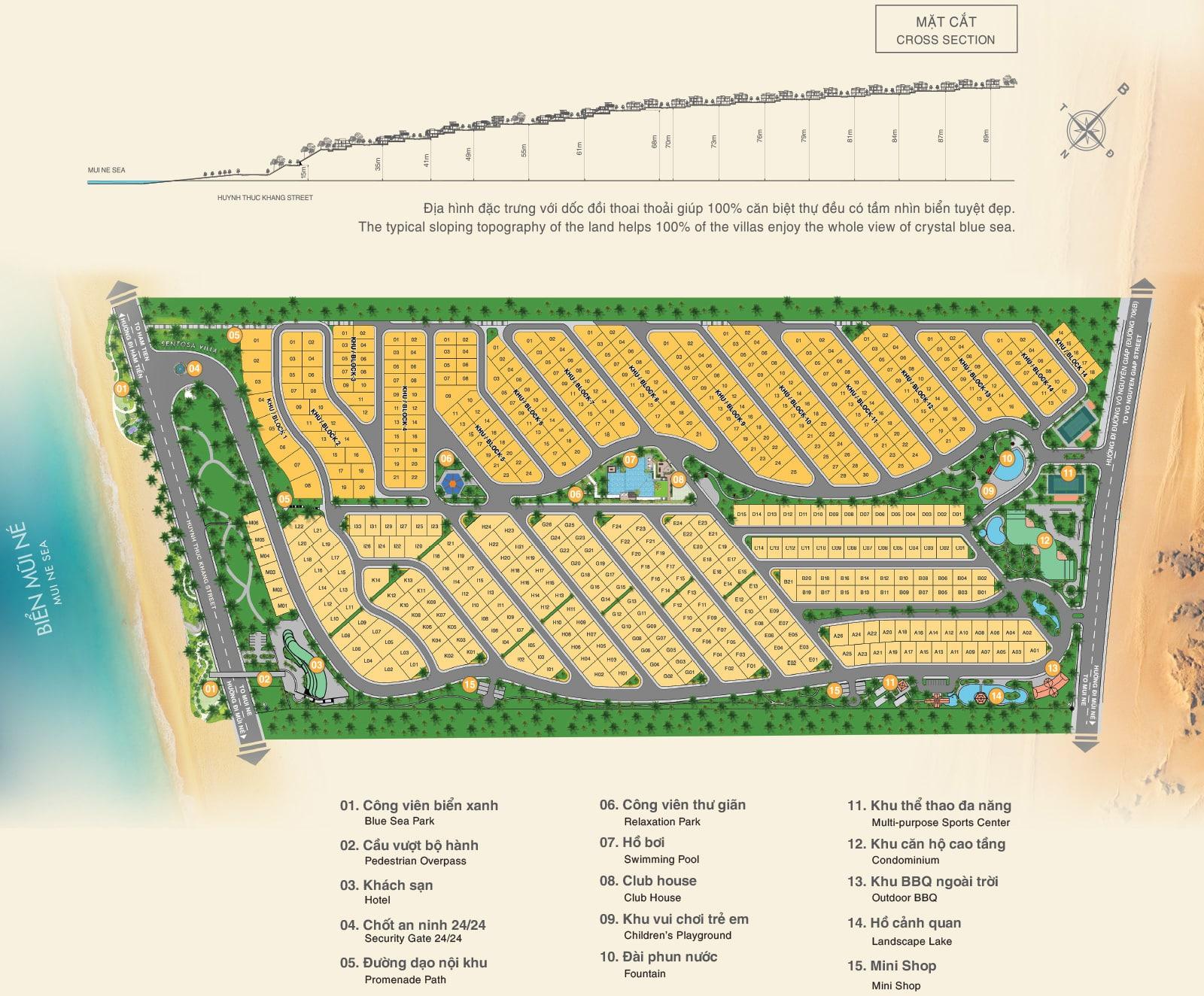 Sentosa Villa Mũi Né - Phan Thiết | Chính sách, bảng giá Chủ Đầu Tư