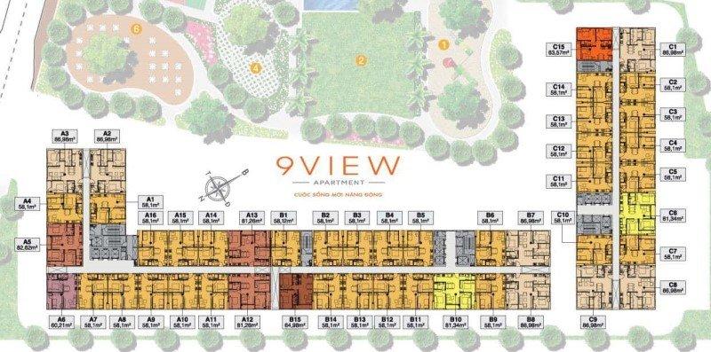 Mặt bằng tổng thể dự án 9 View