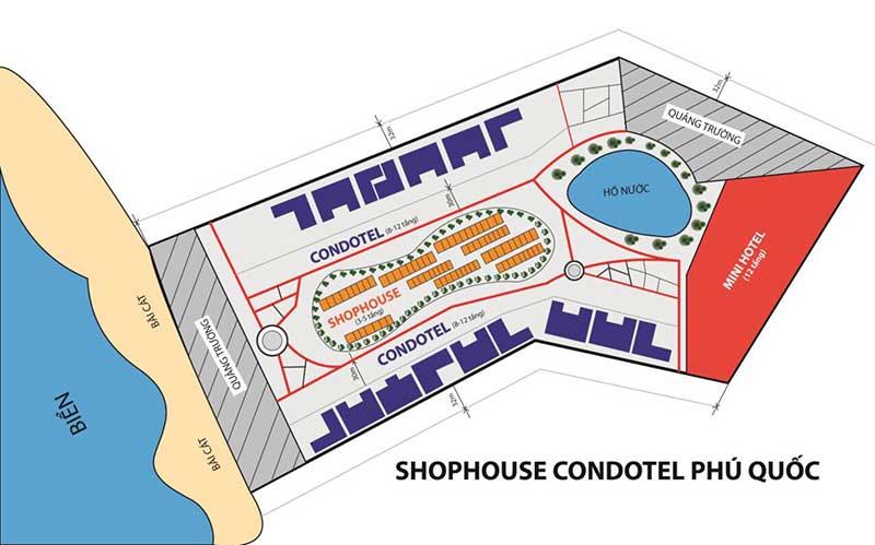 Vị trí Shophouse Vinpearl Phú Quốc