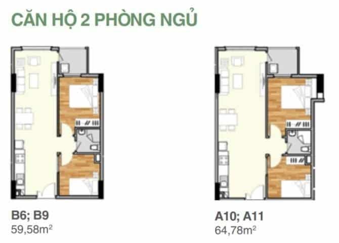 Mặt bằng thiết kế từng căn hộ