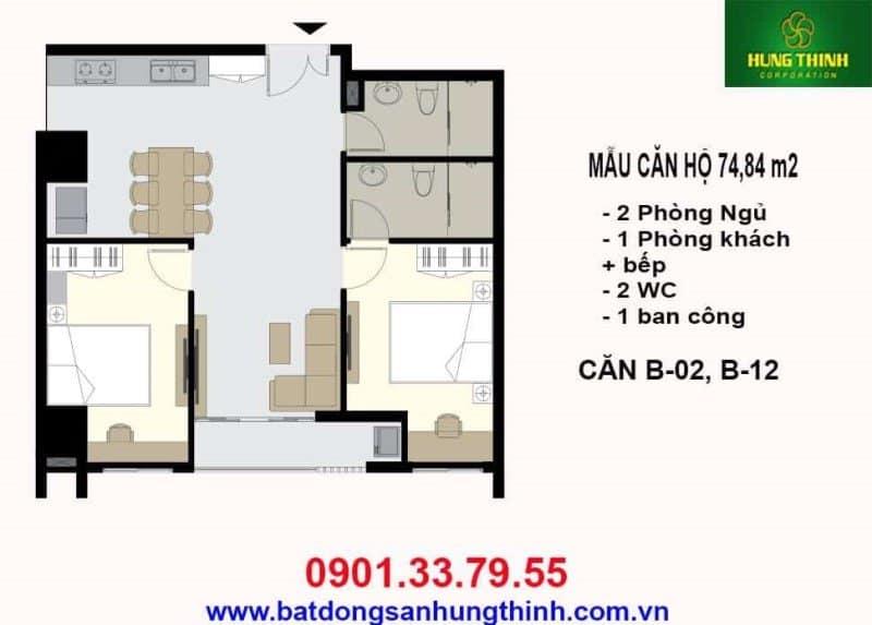 Bản vẽ thiết kế căn hộ Vũng Tàu Melody