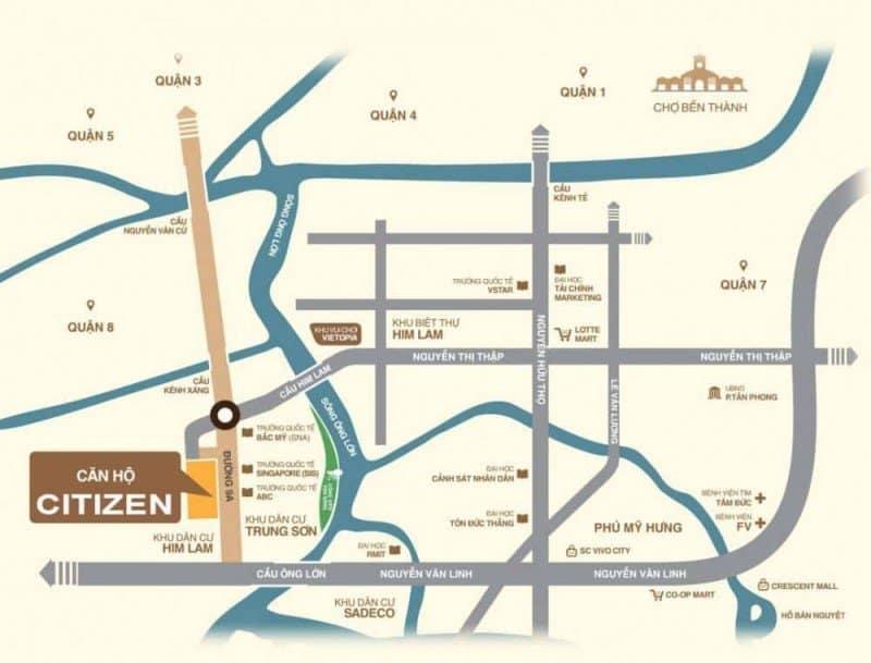 Vị trí dự án căn hộ CitizenTS