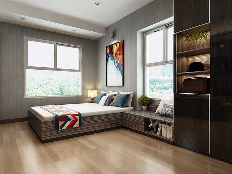 Phòng ngủ căn hộ Xi Grand Court