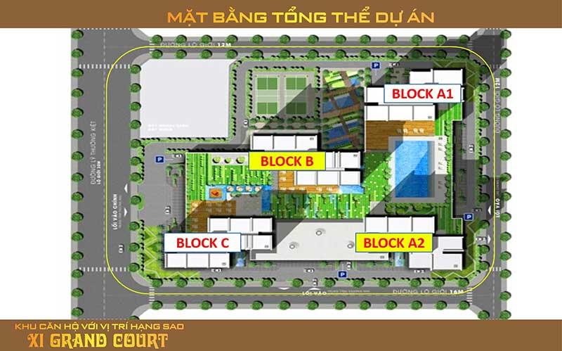 Mặt bằng căn hộ Xi Grand Court