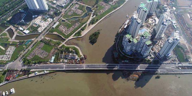 Cầu Thời Đại ngang qua Dự án căn hộ Waterbay