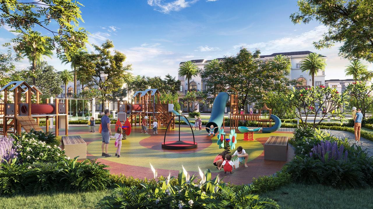 Công viên nội khu dự án Golden Bay 602