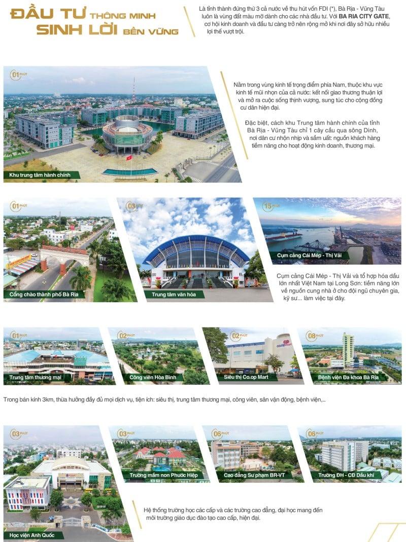Đầu tư Bà Ria City Gate là một bước đầu tư thông minh và sinh lời bền vững