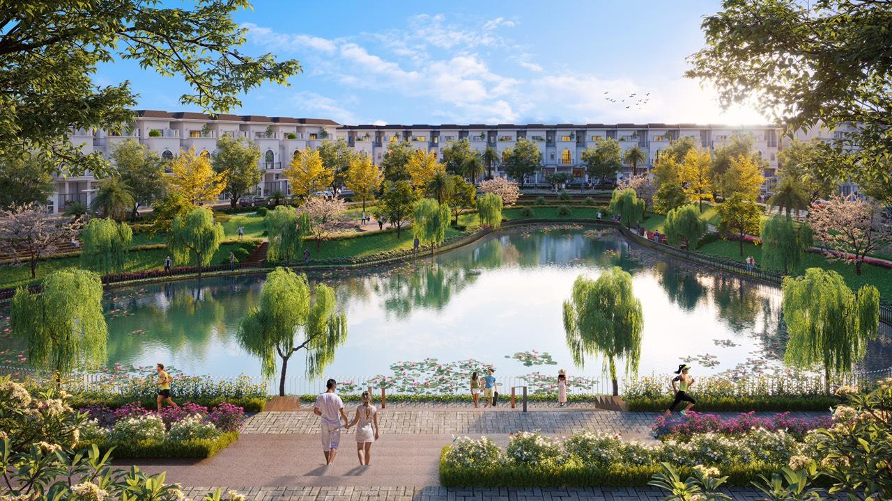 Hồ cảnh quan dự án Golden Bay 602