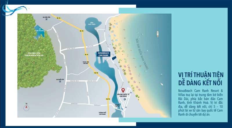Vị trí Biệt thự Nova Beach Cam Ranh