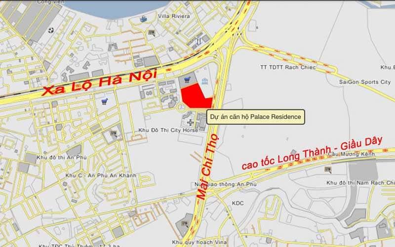 Vị trí căn hộ Palace Residence