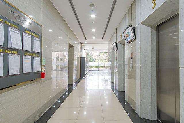 Hệ thống thang máy khu căn hộ Moonlight Residences
