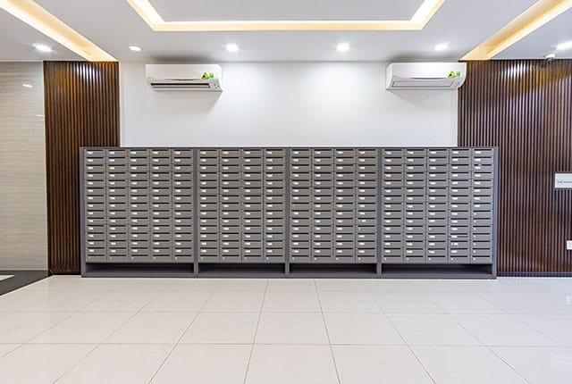 Khu vực thùng thư tập trung