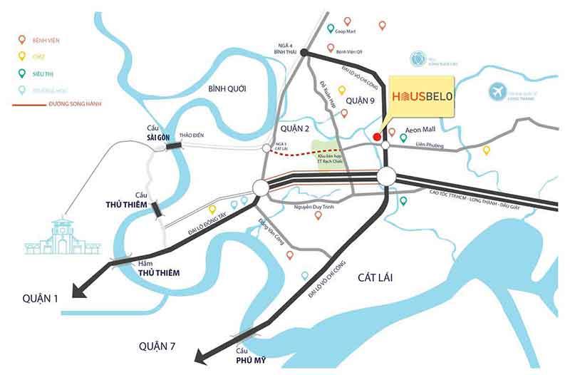 Vị trí căn hộ Hausbelo