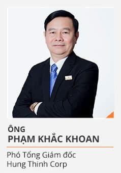 Ông PHẠM KHẮC KHOAN (Phó Tổng Giám đốc Hưng Thịnh Corp)