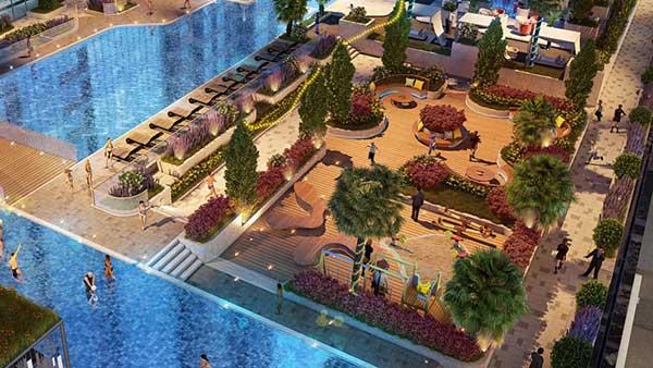 Công viên nội khu Sunwah Pearl