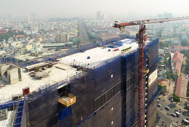 Hình ảnh thi công xây dựng Boulevard ngày 04/02/2019