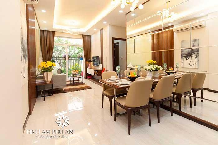 Căn hộ mẫu Him Lam Phú An cho thuê