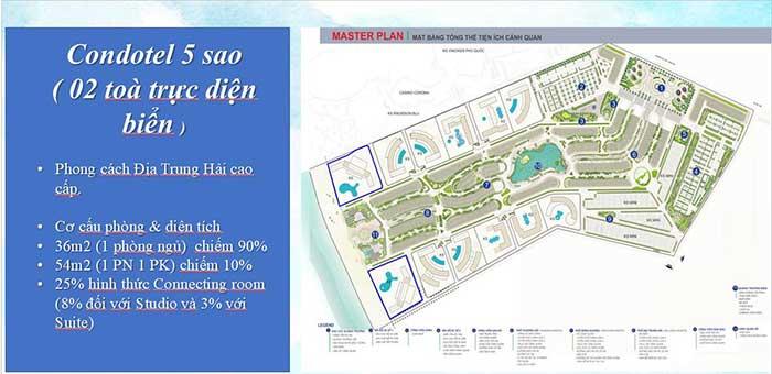 Mặt bằng Condotel Vinpearl Phú Quốc