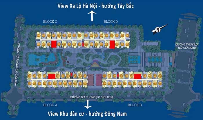 Mặt bằng căn hộ Him Lam Phú An