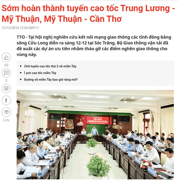 Cao tốc Mỹ Thuận - Cần Thơ