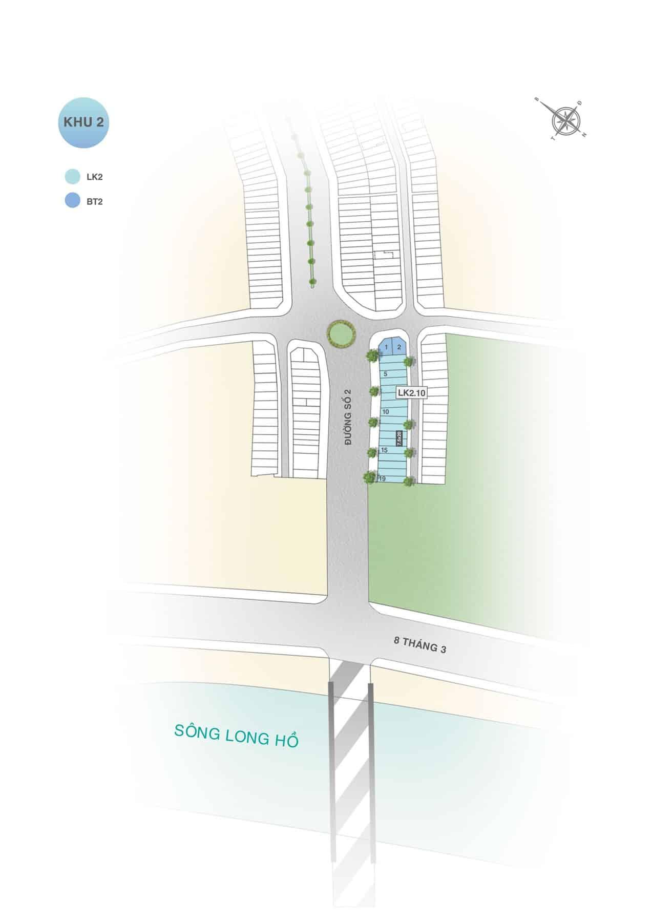 Mặt bằng dự án Hưng Thịnh Vĩnh Long khu 2C