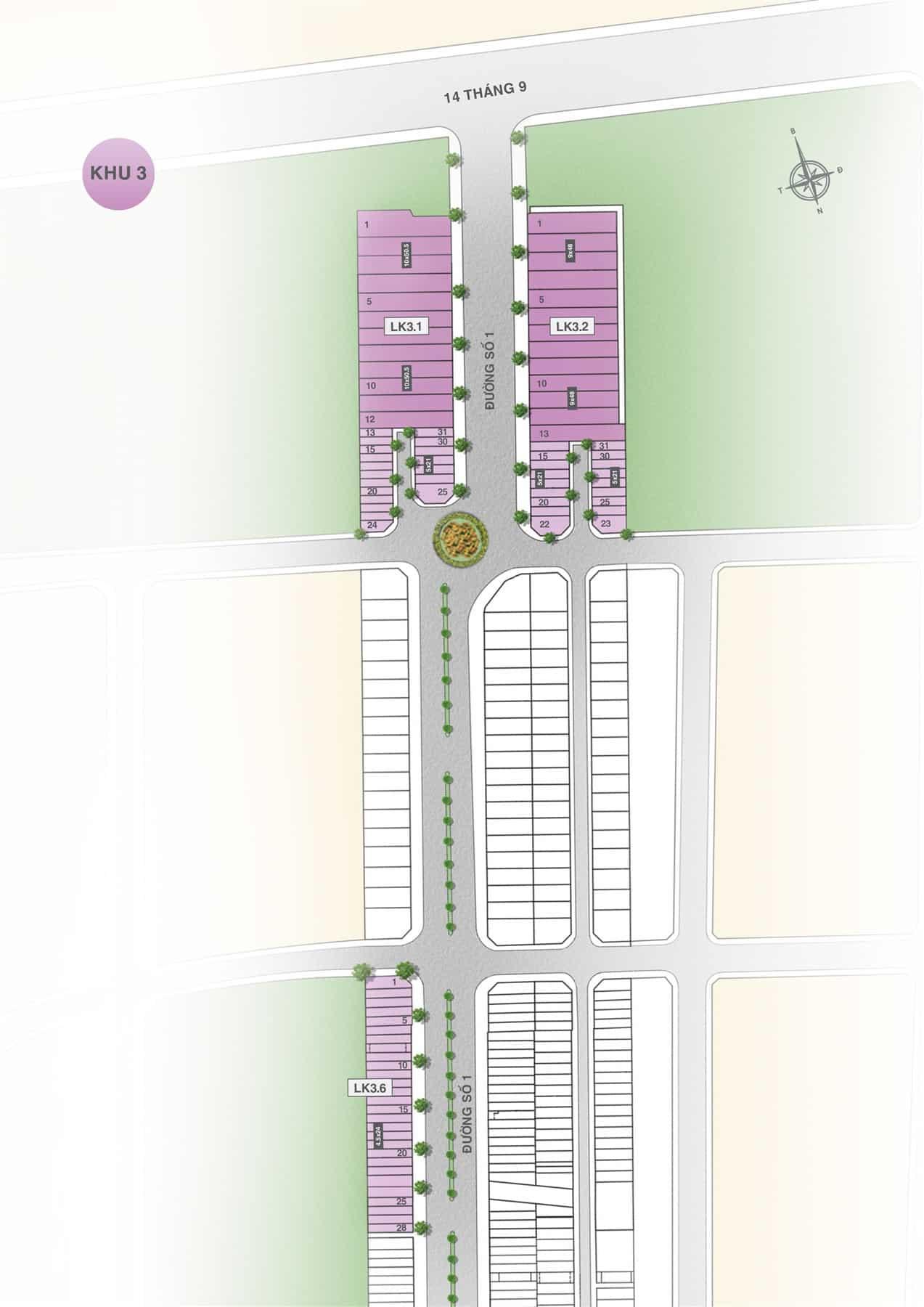 Mặt bằng dự án Hưng Thịnh Vĩnh Long khu 3