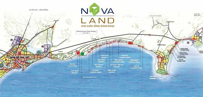 Vị trí NovaWolrd Phan Thiết