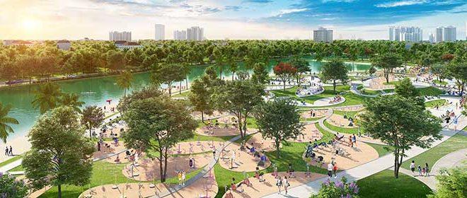Công viên nội khu dự án Vinhomes Sapphire quận 9
