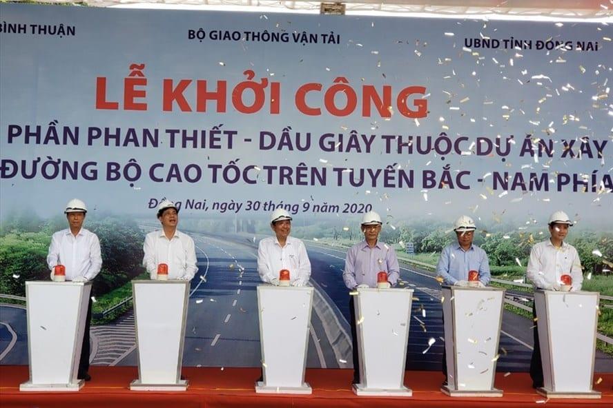 Khởi công cao tốc Dầy Dây - Phan Thiết ngày 30/09/2020