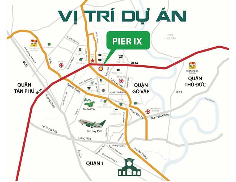 Vị trí dự án Pier IX