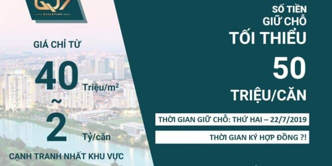 Chính thức nhận giữ chổ căn hộ Hưng Thịnh Nguyễn Lương Bằng