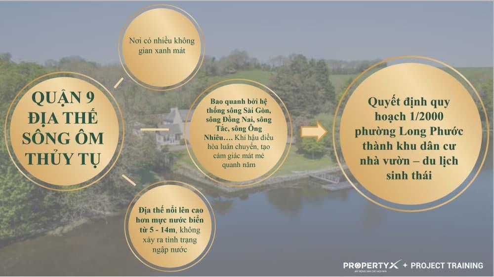 Quyết định quy hoạch 1/2000 phường Long Phước thành khu dân cư nhà vườn - du lịch sinh thái