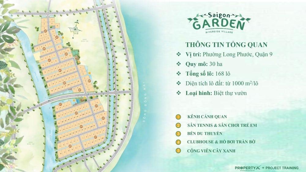 Dự án Saigon Garden Riverside Village - Đất nền biệt thự vườn