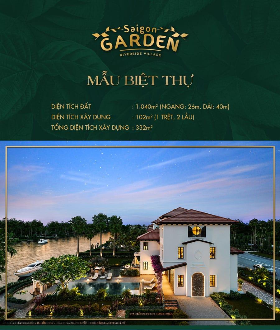 Thiết kế biệt thự Saigon Garden