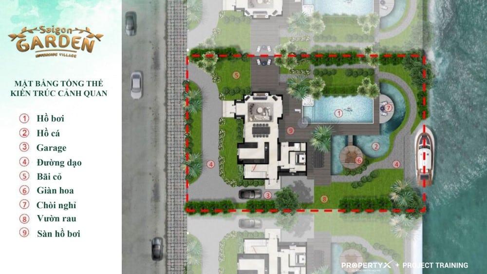 Thiết kế tổng thể mẫu 2 biệt thự vườn Hưng Thịnh
