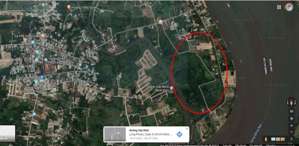 Vị trí của dự án đất nền biệt thự vườn Hưng Thịnh quận 9 nằm tại 86 Đường Cầu Đình, phường Long Phước, Quận 9, TP HCM