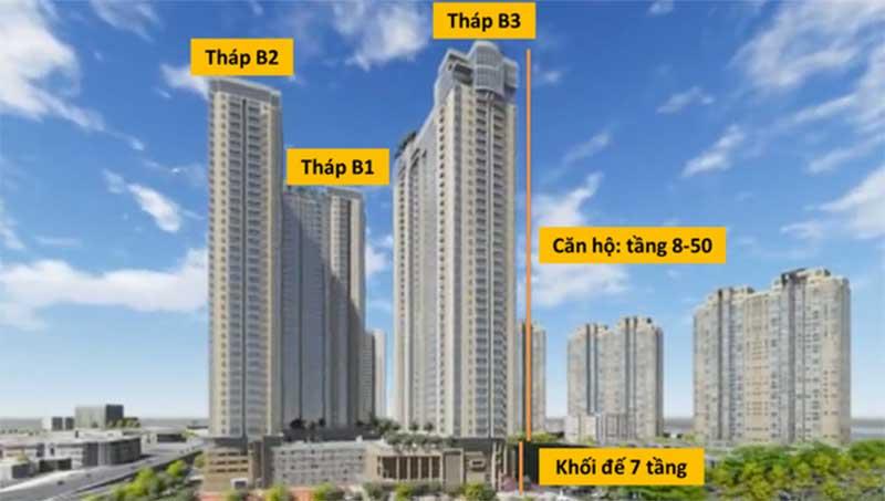 Các tòa căn hộ dự án Sunwah Pearl
