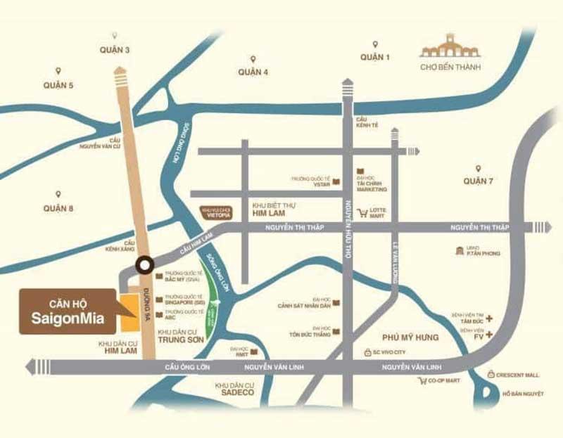 Vị trí Saigon Mia