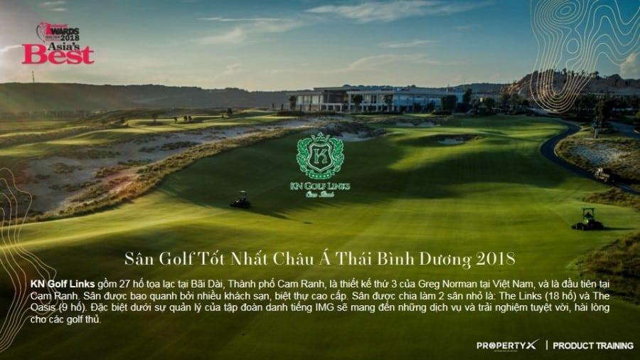 Sân Golf tốt nhất châu Á Thái Bình Dương 2018