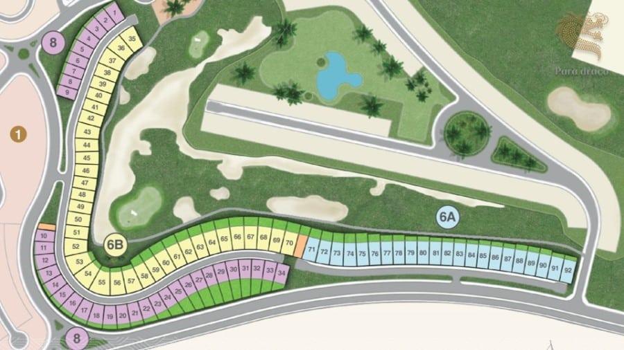 Mặt bằng dự án biệt thự biển Para Draco Cam Ranh