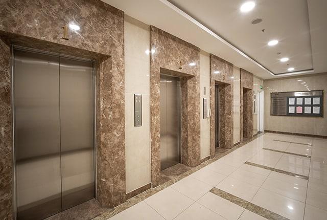 Hệ thống thang máy khu căn hộ 9View Apartment