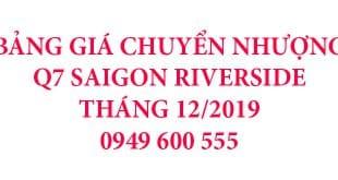 bang giá Q7 Riverside thang 12/2019