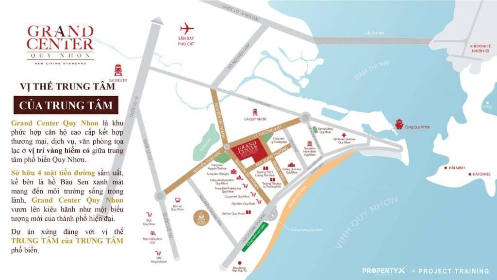 Grand Center Quy Nhơn sở hữu 4 mặt tiền đường lớn tại Quy Nhơn