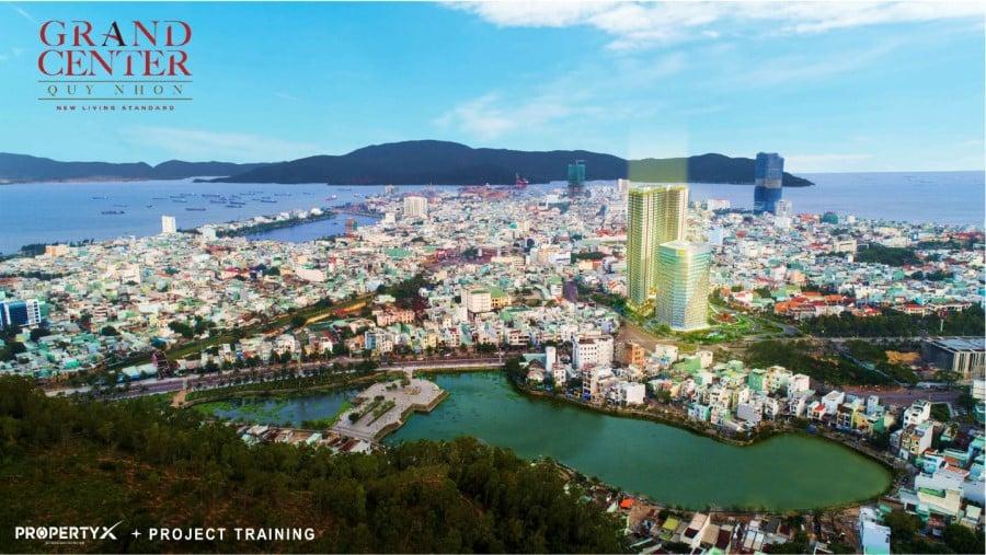 Phối cảnh và vị trí dự án căn hộ cao cấp Grand Center Quy Nhơn