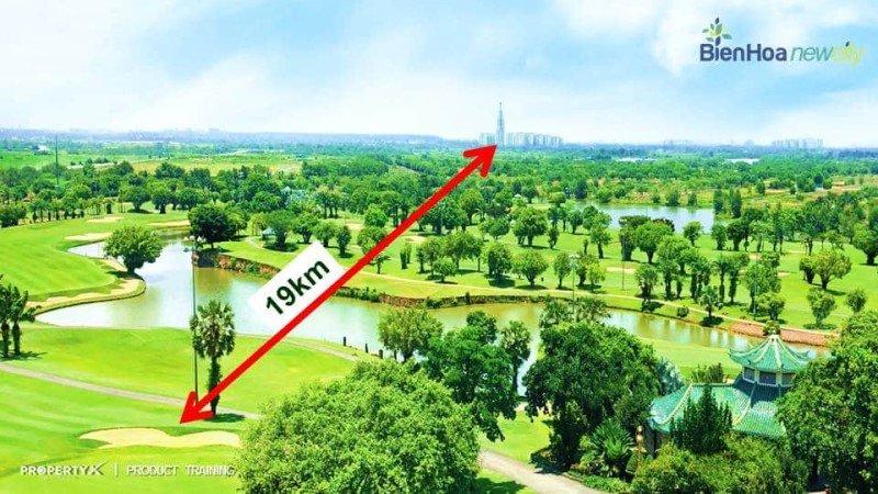 Cách trung tâm TP HCM chỉ 19km bán kính đường chim bay