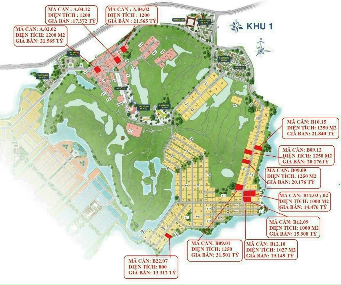 Bảng giá biệt thự Biên Hòa New City