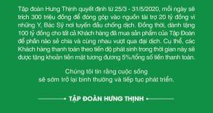 hung thinh ho tro khach hang dich covid 19